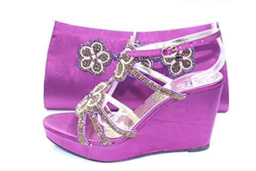 Wear & Walk UK - Sandalias de vestir para mujer morado