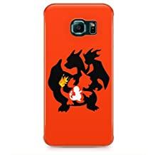 Charmander Charmaleon Charizard Evolution Pokemon Hard Plastic Snap-On Case Cover For Samsung Galaxy S6 Edge