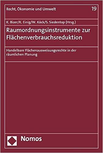 Book Raumordnungsinstrumente zur Flächenverbrauchsreduktion