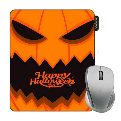 Cowcool Mouse Pad with Happy Halloween Evil Pumpkin Face Mouse Pads for Computers Laptop Gameing