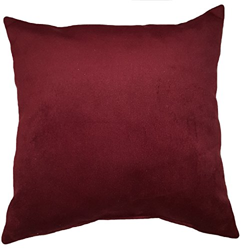 Microfiber Sheared Velvet Pin Cord Berry Burgundy Decorative Soft Throw Pillow eBay