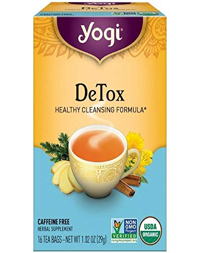 Yogi Herbal Tea Bags, Detox 16 ea ( pack of 3)