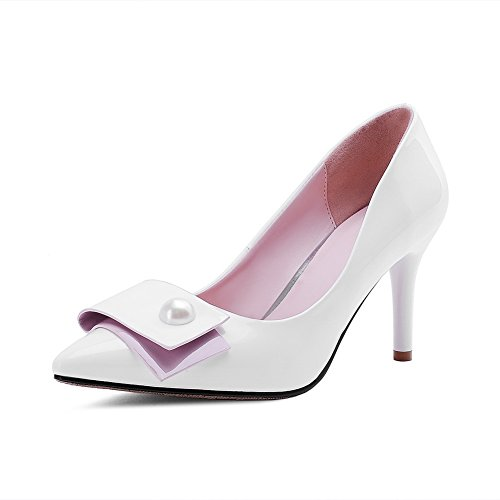 spikes cuir enfiler massif verni Blanc Mesdames balamasa pumps à stilettos shoes 5wXnFWqR