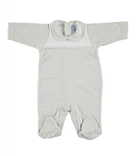Pelele bebé enterizo de canesu BABIDU puntilla rayas gris: Amazon.es: Bebé