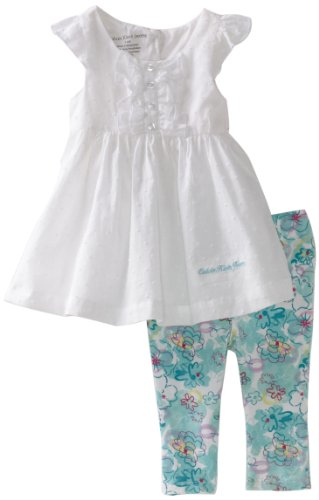 Calvin Klein Baby Girls' Ck Top and Print Pant