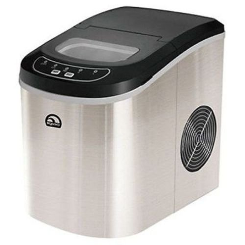 iGloo ICE102-ST Compact Ice Maker, Stainless Steel (Certified Refurbished)