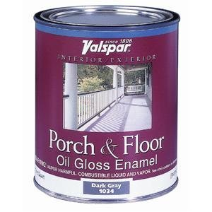 Valspar 27-1000 QT 1 Quart White Porch & Floor Oil Enamel Paint