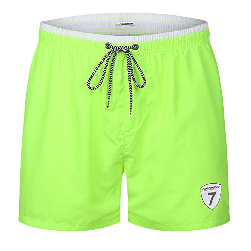 anqier Mens Swim Trunks Quick Dry Swim Shorts with Mesh Lining Swimwear Bathing Suits (Triathlon Trunks)