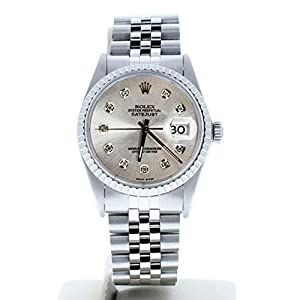 Best Epic Trends 41WOr30xE-L._SS300_ Rolex Mens Datejust 16030 Custom Diamond Dial (Certified Preowned)