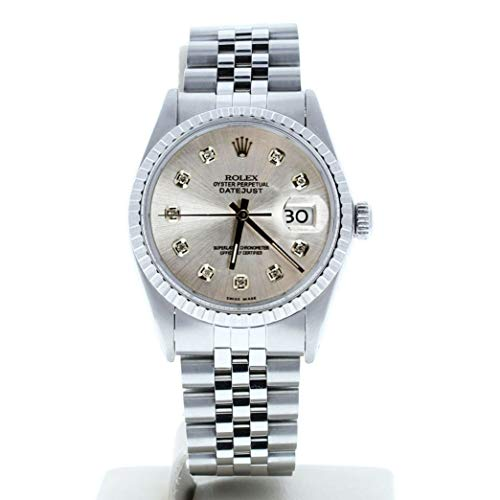 Rolex Mens Datejust 16030 Custom Diamond Dial (Certified Preowned)