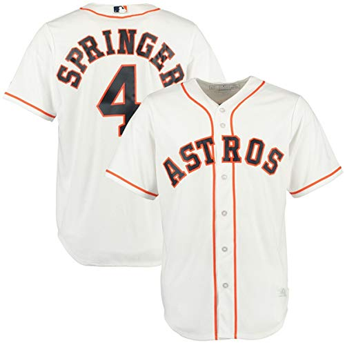 Mitchell & Ness Men's #4 George Springer Houston Astros Cool Base Player Jersey White