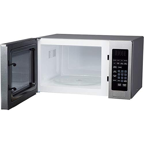 Magic Chef Cu. Ft. 900W Countertop Oven Front MCM990ST 0.9 cu.ft. Microwave Stainless Steel.9