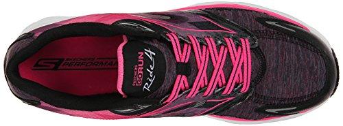 Skechers Go Running Femme Noir 4 Run Ride Entrainement Noir Excess Rose H1qraHRw