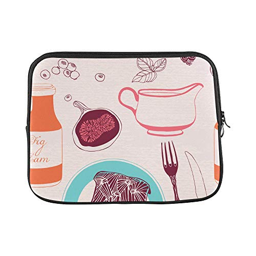 (Design Custom Bread Jam Sweet and Sour Sauce Breakfast Sleeve Soft Laptop Case Bag Pouch Skin for Air 11