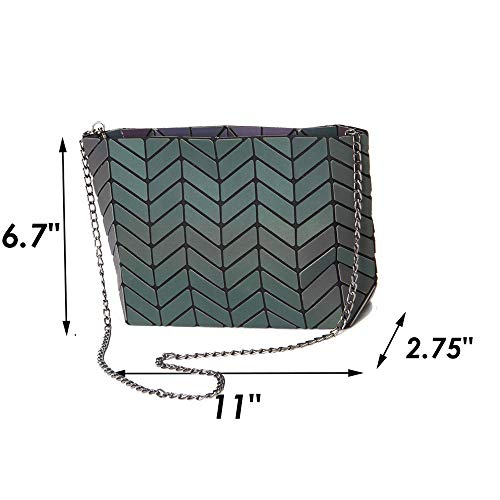 Bag Lattice Women Geometric Handbag Girls Purse PU Leather for Magibag Shoulder Crossbody Diamond Chain YSwPTT