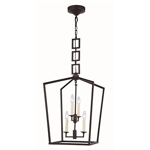 Elegant Lighting Denmark 4 Light Pendant in Vintage - Light 4 Pendant Denmark