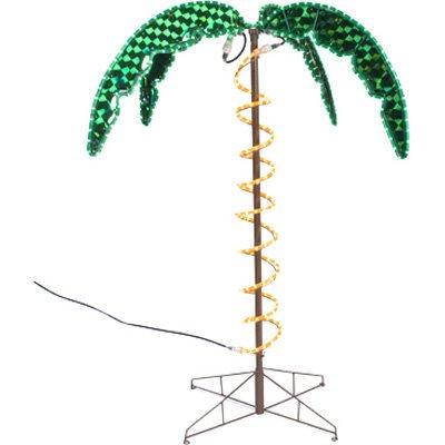 Roman 169482 Lights Tall Holographic Ropelight Palm Tree-Plugs In Statue, 4.5-Feet