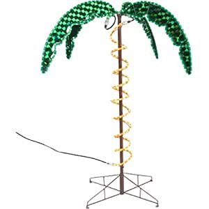 Amazon.com : Roman 4.5 Tropical Lighted Holographic Rope Light Outdoor Palm Tree Yard ...