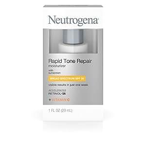 Neutrogena Rapid Tone Repair Moisturizer With Retinol, Broad Spectrum Spf 30 Sunscreen,  Travel Size 1 Fl. Oz.