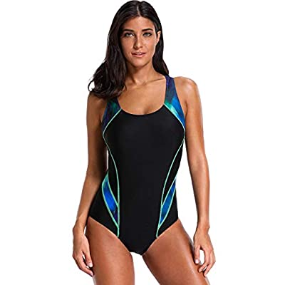 CharmLeaks Women's Sport Pro One Piece Swimsuit Athletic Racerback Swimwear …: Clothing