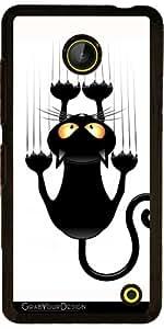 Funda para Nokia Lumia 630 - Dibujo Animado Del Gato Divertido Rascarse W