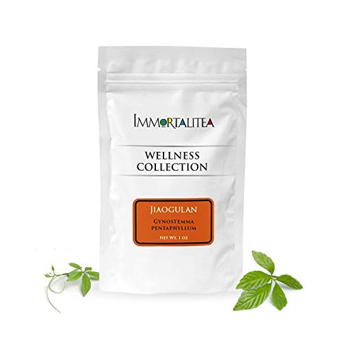 Gynostemma Tea - Jiaogulan AMPK Activator Loose Leaf Herbal Tea - Potent Antioxidant & Adaptogenic Longevity Herb - All Natural Caffeine-Free Immortality Herb - 1 oz
