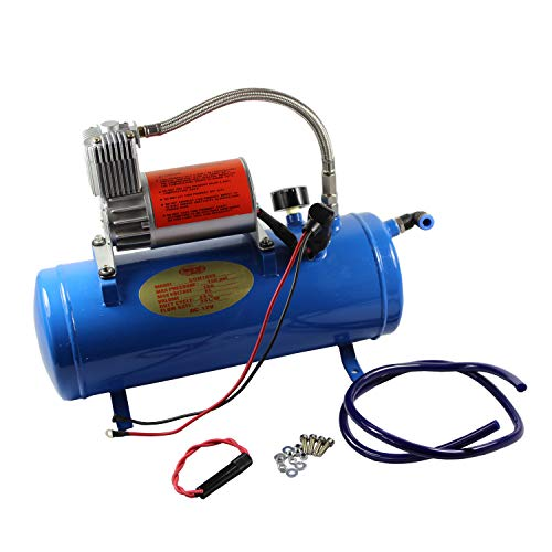 JDMSPEED 150PSI DC 12V Air Compressor 6 Liter Tank Train Horns Motorhome Tires