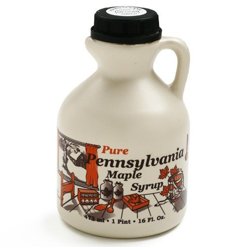 Pint Maple Syrup Jug - Miller's Pure Pennsylvania Maple Syrup - Amber Rich-Pint (1 pint)
