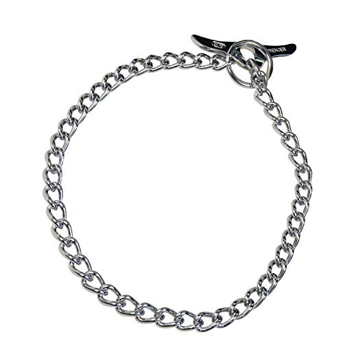 Herm Sprenger Choke Chain - Herm Sprenger - Medium Choke Chain with Toggle - Professional Grade Training Collar Dog Collars Made of Chrome-Plated Steel - (50cm (20