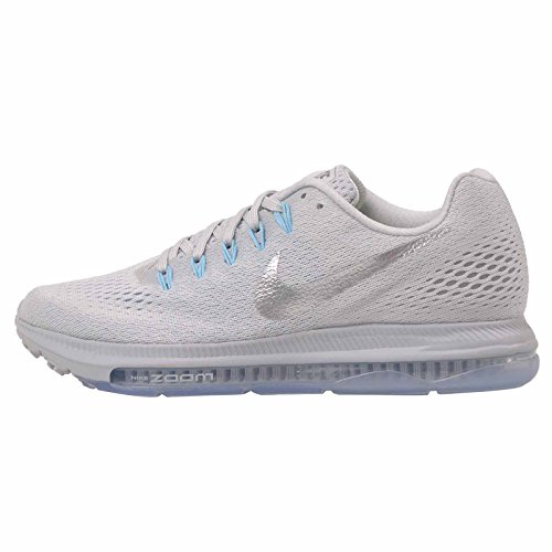 NIKE Zoom All Out Low Size 7 Womens Running Pure Platinum/Chrome-Glacier Blue Shoes