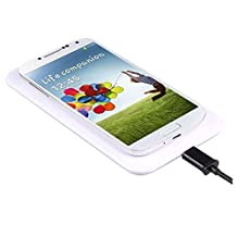 SODIAL(R) Qi Wireless Charger Charging Pad+Receiver Kit For Samsung Galaxy S4 i9500 (White)