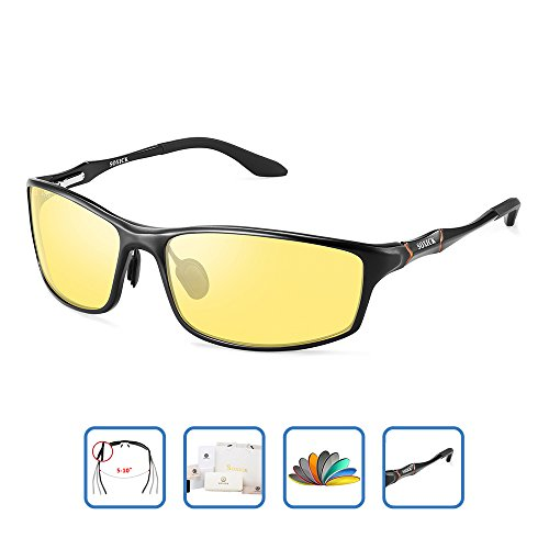 HD Men's Night Vision Glasses For Driving Polarized Anti-glare Night Sight Driving - At Wearing Sunglasses Night