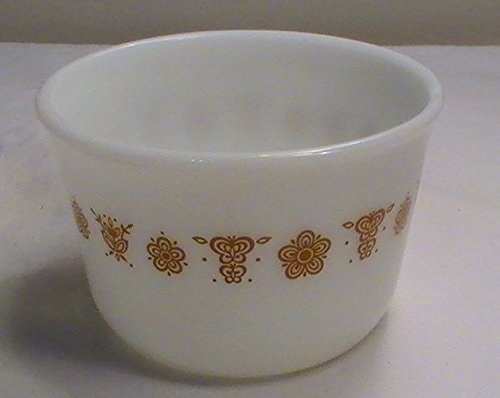 Corning Butterfly Gold Open Pyrex Sugar Bowl
