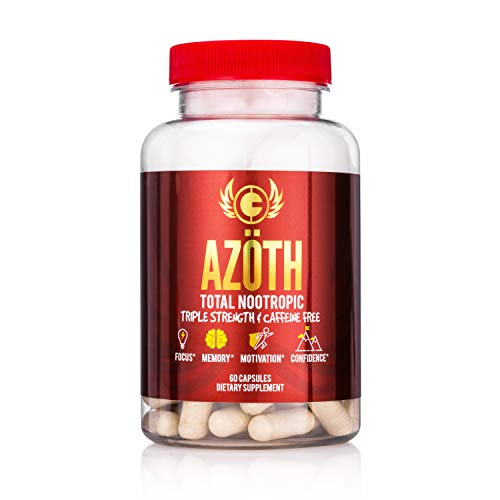 Mg 500 L-tyrosine 50 Tablet - AZOTH Super Strength Nootropic For Focus, Anxiety, Motivation, Confidence, Mood, & Cognitive Enhancement-100% Caffeine Free-MADE IN USA in FDA & cGMP Compliant Facility