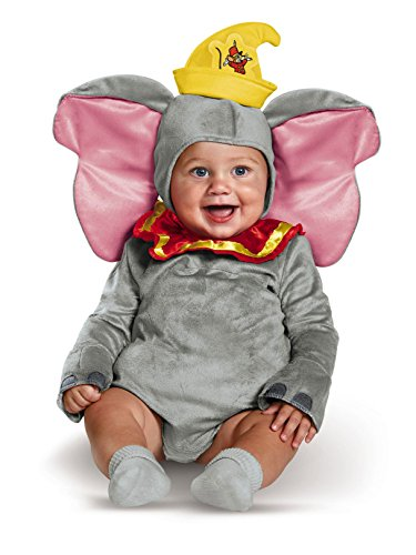 Disguise Baby Dumbo Infant Costume, Gray, 6 to 12 Months ()