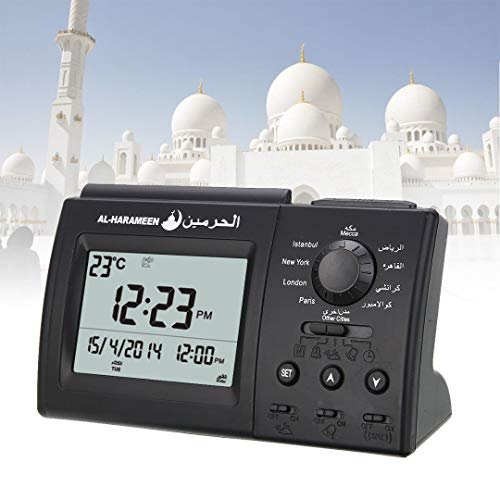 - Desk & Table Clocks - Azan Table Clock 1500 City Athan Adhan Qibla Salah Prayer Support Compass Muslim Praying Islamic - Desk Islam Draw Clocks Wlxy Muslim Calendar Stick Azan Abaya Wall Le