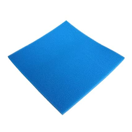 LANDUM Acuario Bioquímico Algodón Filtro Espuma Peces Tanque Esponja, Esponja, Azul, 50x50x2cm