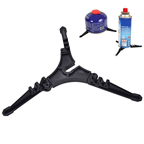 Eshylala Folding Stove Stand, Outdoor Camping Hiking Cooking Gas Tank Stove Stand Cartridge Canister Tripod