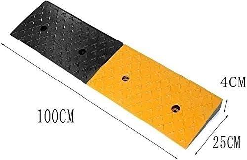 ノンスリップラバースレッショルドスロープ病院住宅地のステップパッドスケートボード車椅子上り坂パッドより良い耐荷重 段差プレート・スロープ (Size : 100*25*4CM)