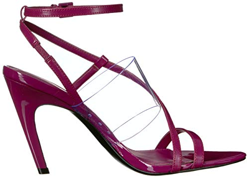 d649b865e00 Calvin Klein Women's Giorgio Heeled Sandal Magenta Liquid Patent/Clear  Lucite 9.5 M US