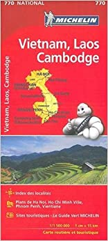 Carte Vietnam Laos Cambodge