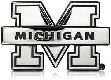 NCAA Michigan Wolverines Chrome Finished Auto Emblem 3D Sticker