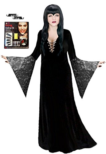 Vampiress Costumes Kit (Sanctuarie Designs Women's Black Vampiress Deluxe Kit Plus Size Supersize Halloween Costume Deluxe Kit/1x/Black/)