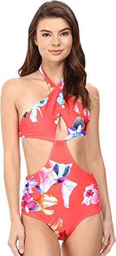 6 Shore Road by Pooja Women's Brava One-Piece Red Colombia Floral Swimsuit