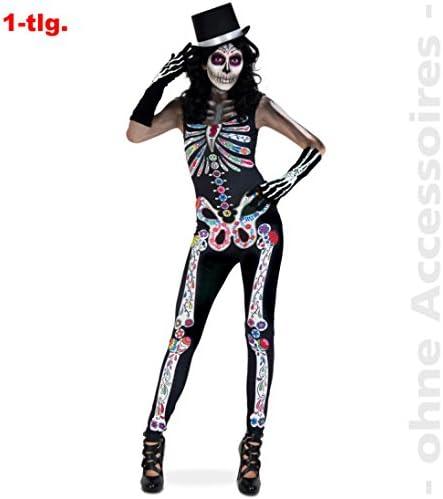 narrenwelt Jumpsuit Catrina Zombie Halloween Horror Disfraz Dia de ...