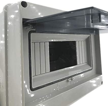 Caja distribucion electrica Superficie IP65 de 8 modulos Blanco, Cablepelado®: Amazon.es: Bricolaje y herramientas