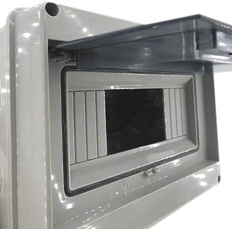 Caja distribucion electrica Superficie IP65 de 8 modulos Blanco ...