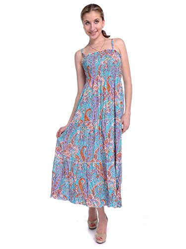 Anna-Kaci S/M Fit Multicoloured All Over Paisley Print Psychedelic Maxi (Psychedelic Maxi Dress)