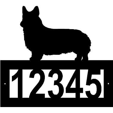 Custom Crafted WELSH CORGI PEMBROKE Steel Address Sign