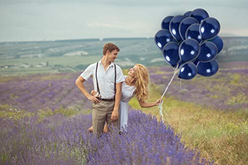 Metallic Royal Navy Blue Balloons 36 Pack 12 Inch Latex Galaxy Nautical Gender Reveal Girl or Boy Party Supplies Bridal Baby Shower Birthday Congrats Grad Engagement Bulk Decorations